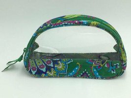 Vera Bradley Emerald Paisley Clear Cosmetic Duo Zipper Case Pouch ONE ONLY - $14.99