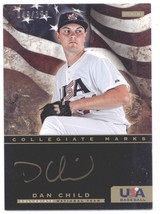 2012 Panini USA Baseball Collegiate National Team Collegiate Marks #3 Dan Child  - $12.00