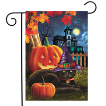 Halloween Black Cat Yard/Garden Flag - $7.99