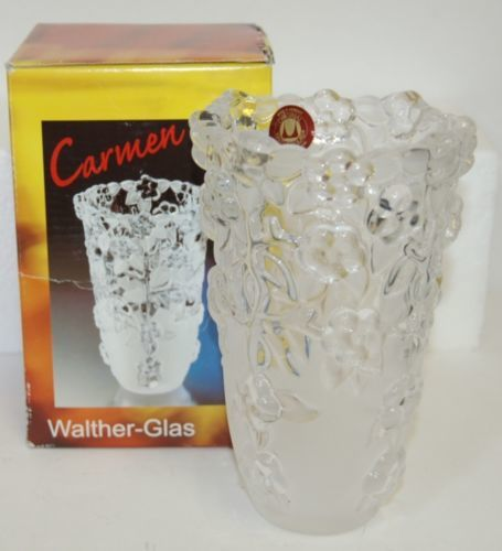 Carmen Satiniert Original  Walther-Glas Vase 12475-7 Glass Frosted bottom