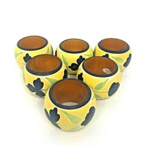 Napkin Ring Set (6) Vintage Wooden Handpainted Boho or Country Chic fr I... - $24.18