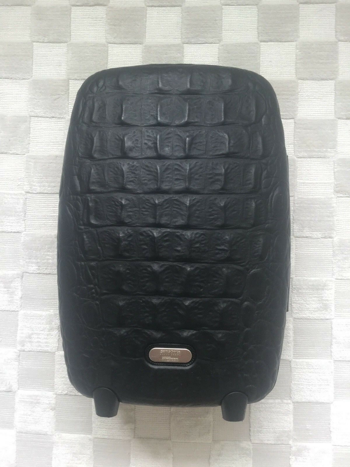 Primary image for ALEXANDER McQUEEN SAMSONITE BLACK CROCODILE TROLLEY UPRIGHT LUGGAGE SUITCASE