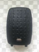 ALEXANDER McQUEEN SAMSONITE BLACK CROCODILE TROLLEY UPRIGHT LUGGAGE SUIT... - $1,089.00