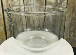 Vintage Fire King Ware USA Sunbeam Small 6.5'' Clear Glass Mixing Bowl w... - $19.79