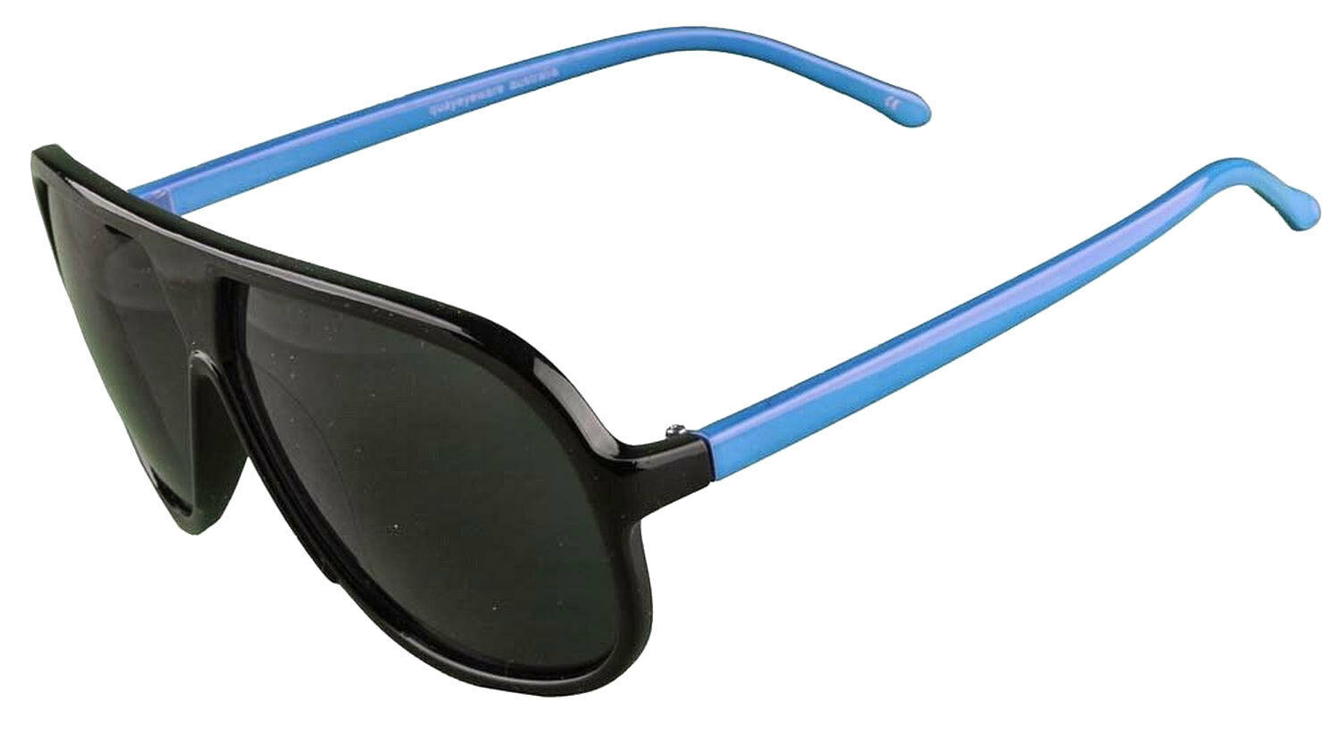 Quay 1435 100% UV Protection Acrylic Black Blue Aviator Sunglasses Dark Shades