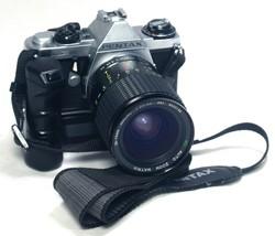 ASAHI PENTAX ME Vintage 35mm FILM Camera Winder 28-75mm f/3.5 Macro Zoom... - $82.80
