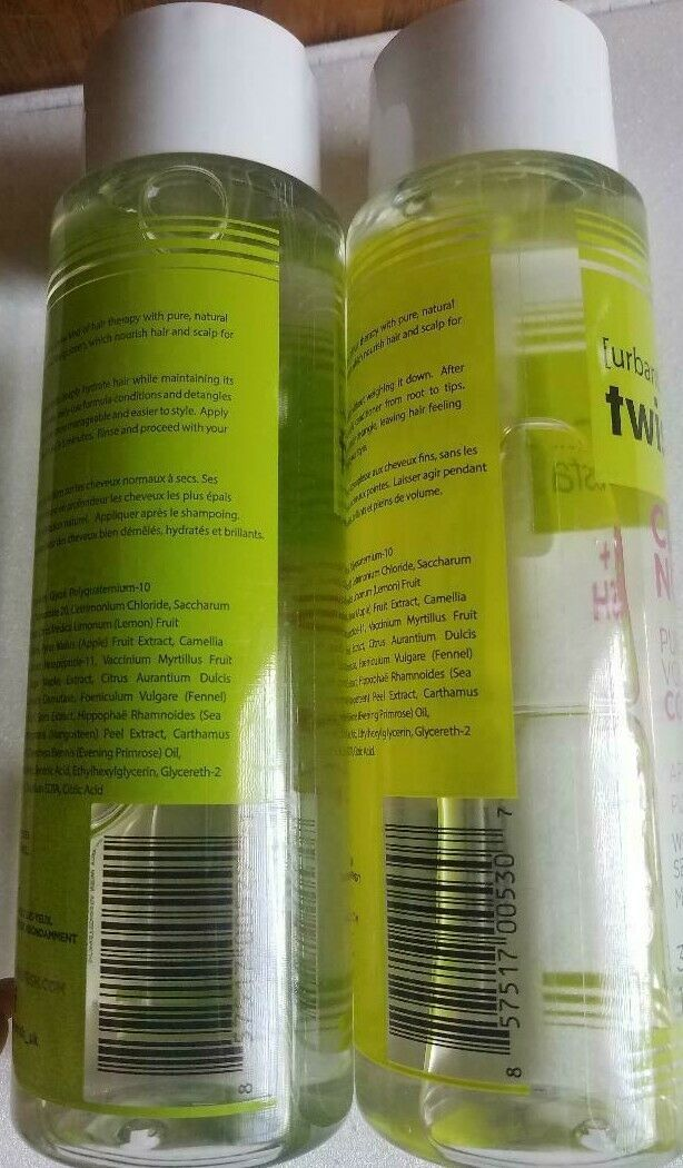 Urban Therapy Twisted Sista Clear + Nourish Pure Hydration Conditioner 12oz 2pcs
