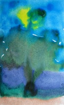 """Original Watercolor Abstract Painting Art """"Cave of Wonders"""" by Artist Mila - $7.99"""