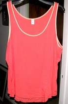 Bright Coral Sleeveless SHELL TOP Size XXL Old Navy - $9.99