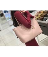 NWT Michael Kors Large drawstring Tote Handbag Bag Jet Set Travel Leathe... - $108.89