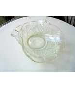 """Indiana Glass Frosted Fruit Garland 7"""" Bent Bowl - $9.90"""