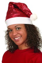 Jacobson Red Sequin Santa Hat Shimmer Party Christmas Holiday Novelty El... - $7.91