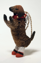 Pottery Barn Standing Doxie Christmas ornament bottlebrush dog dachshund - $11.98