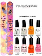 Wet N Wild Spoiled Nail Color Collection #1 Of 8 Shades Plus 2 Free Nail Files F - $19.59