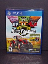 PS4 Pure Farming 2018 Game Day One Edition Extra Map Geotrack New Sealed... - $38.60