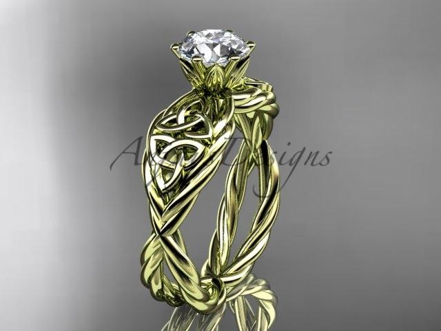 Eltic knot engagement rings  rope ring  diamond engagement ring  forever brilliant moissanite  1