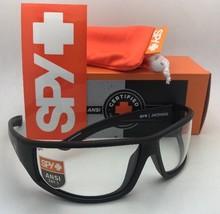 New SPY OPTIC Sunglasses JACKMAN 70-10 Matte Black Frame w/ANSI Z87.1 Clear Lens