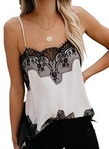 Women's Summer Cami Tank Tops Sexy Lace Blouses Adjustable Sleeveless Sh... - $18.23