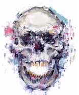 "CRISP Print on Canvas Abstract Urban art Wall decor The Skull 28x36"" - $31.68"