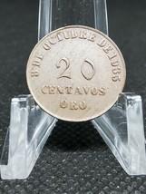 COIN: Peru Token 20 cent 1935  FONDOS PRO MONUMENTOS GRAU  Nice Toning - $4.94