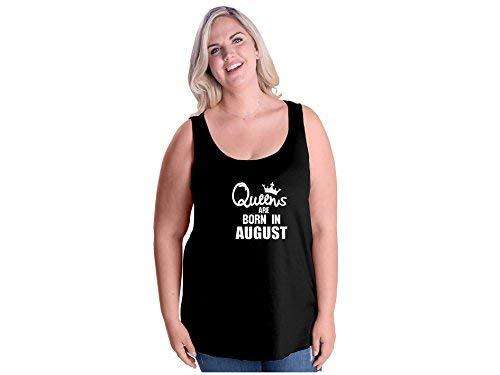 Primary image for Women's Queens are Born in August Plus Size Tank Top 22-24 Black