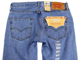 Levi's 501 Men's Original Fit Straight Leg Jeans Button Fly 501-0134 image 1