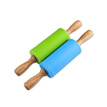 Honglida 9 Inch Silicone Rolling Pin for Kids, Non-stick Surface and Com... - $7.19