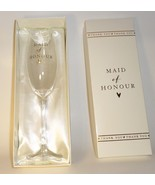 Maid of Honour Thank You Champagne Glass Flute wedding gift Amore Julia... - $29.77