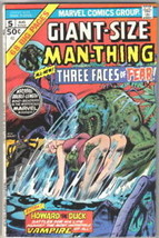 Giant-Size Man-Thing Comic Book #5, Marvel 1975 FINE- - $10.69
