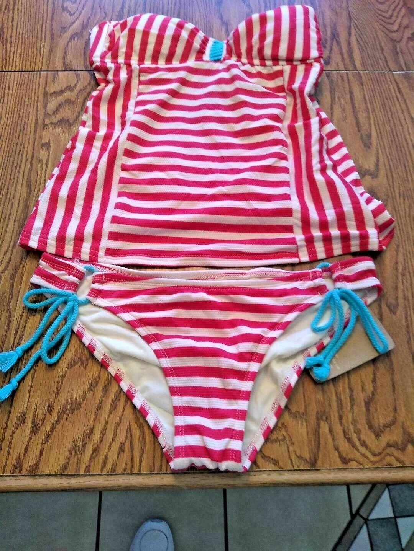 Hobie Multi Color Two Piece Bikini Set Size Medium