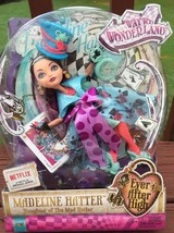 Mattel Ever After High Madeline Hatter Daughter Of Mad Hatter Doll Toy A... - $19.79