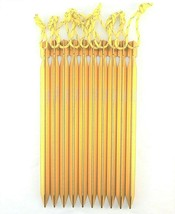 King of Kings Tent Ground Stakes 8.5in + Aluminum 10-Piece Camping Outdoor - $9.79