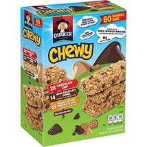 Quaker-Chewy Granola Bars, 3 Flavor Assortment, 60 count, 50.7oz, 0.84 ounce (pa - $19.12