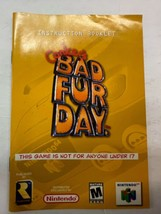 Conker's Bad fur Day Nintendo 64 Manual Booklet N64 Instructions Only - $59.35