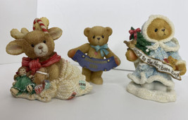 3 Cherished Teddies Winter Holidays Missy Grace Deerlivery Glory Newborn... - $37.57