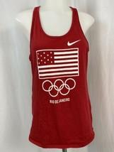 Nike Women's Rio De Janeiro Olympics Red Graphic Tank Size M - $9.49