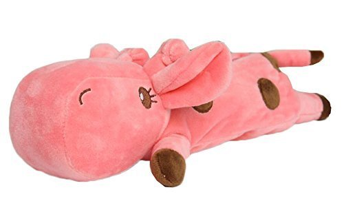 Plush Stationery Pouch Zipper Makeup Storage Pink Giraffe