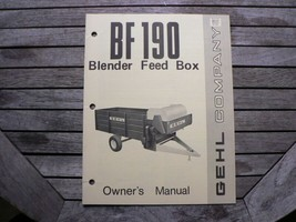 Gehl Co Owners Operators Manual Book Blender Feed Box BF190 West Bend WI - $50.00