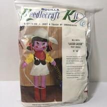 "Lasso Lassie Doll Kit Bucilla 25"" tall Cowgirl - $19.34"