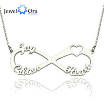 Personalized Name Necklace Sterling Silver Heart Letter Necklaces & Pend... - $42.60