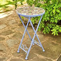 Zaer Ltd. Mosaic Tile Furniture (Small Accent Table, New Orleans Lavender) - $89.95