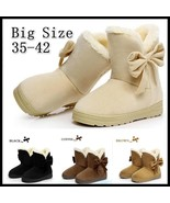 Women's Fashion Winter Warm Ankle Snow Boots Big Size Casual Bow Cotton ... - €18,81 EUR+