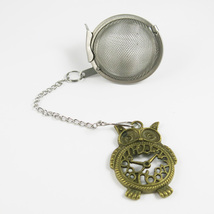 Vintage Owl bronzed steel tea infuser - $6.00