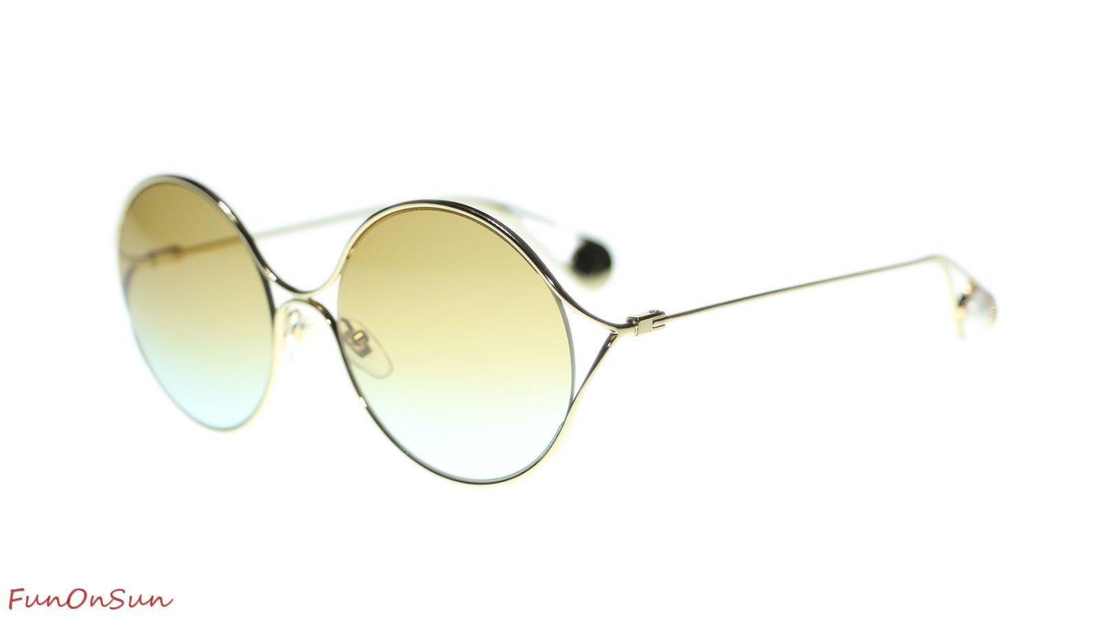 ffe06eb1469 10. 10. Previous. Gucci Women s Sunglasses GG0253S 005 Gold Multicolor  Gradient Lens Round 58mm. Gucci Women s Sunglasses GG0253S ...