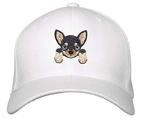 Chihuahua Hat - Cute Puppy Dog Face Adjustable Cap (White)