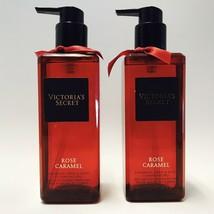 2 Victoria's Secret Rose Caramel Fragrant Hand & Body Cleansing Gel 8.4 oz - $29.69