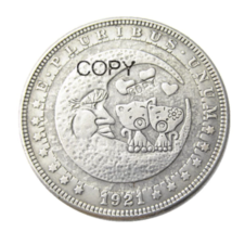 HB(80)US Hobo 1921 Morgan Dollar Silver Plated Copy Coins - $7.99
