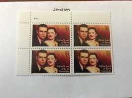 United States Alfred Lunt block mnh 1999 #1    stamps - $2.80