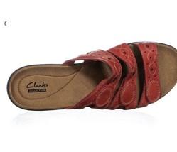 Clarks Collection Leather - Strap Slides - Leisa Cacti. CHOOSE COLOR - $70.00