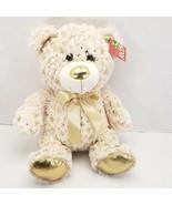 """Tan Bear w/ Metallic Stars 10.5"""" Plush Stuffed Animal Easter - $13.65"""